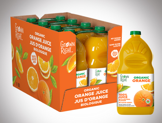 8565 Organic Grown Right Juice Packaging